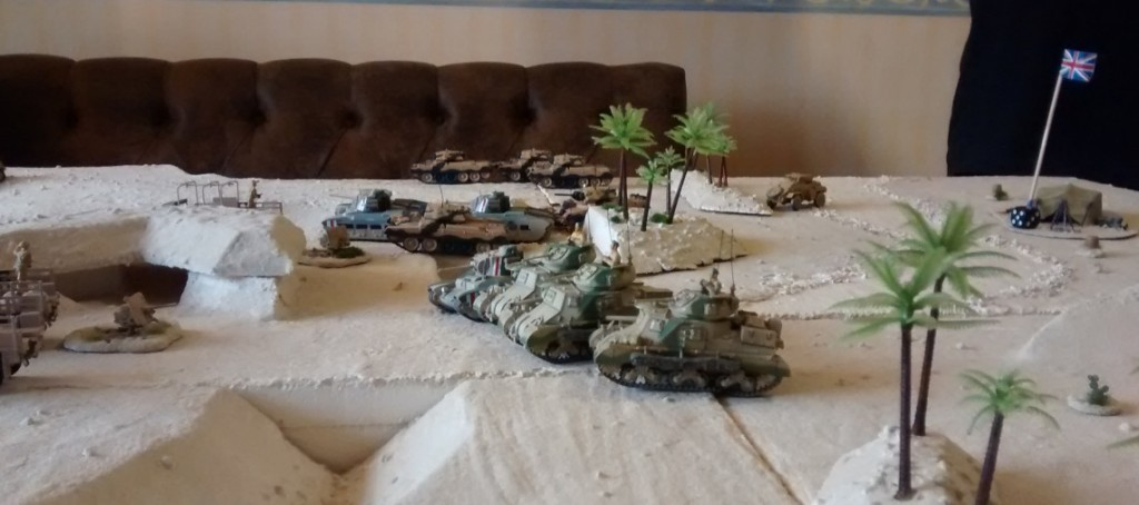"""Die Spitzen der British 7th Armoured Division stehen kurz vor dem Wüstenfort """"El Ghibli"""""""