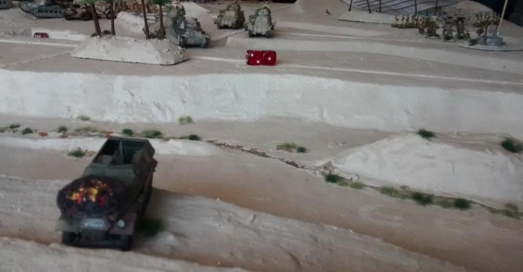 Das kurze Intermezzo des Sd.Kfz. 251/2 macht die Gefährlichkeit der Lage deutlich.