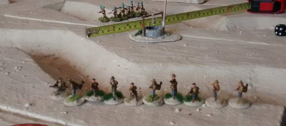 Die starken Kräfte der 6th Australian Division und der 4th Indian Infantry Division versuchen den Angriff der Division Folgore zu unterbinden - erfolgreich.