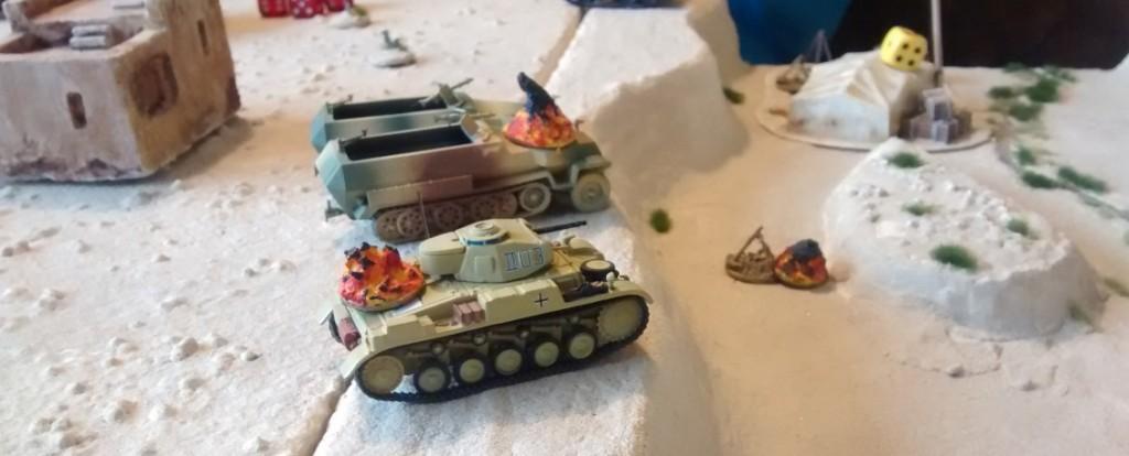 Das Feuer der verbliebenen britischen Kräfte hat jedoch auch auf deutscher Seite Spuren hinterlassen.