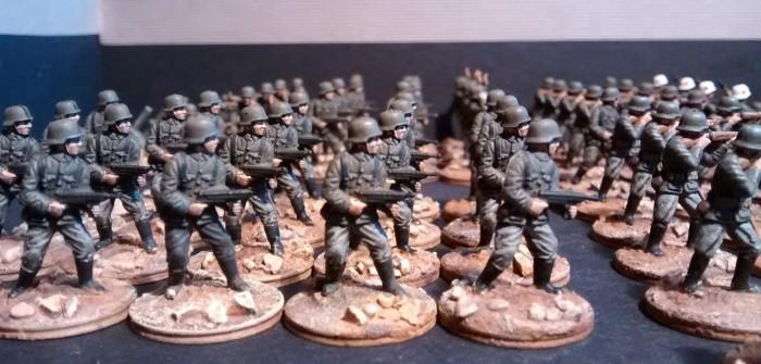 Speedpainting #1: So zwo 10er-Trupps für meine 20mm-Armee