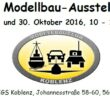12. Modellbau-Ausstellung des Modellbauclub Koblenz am 29. + 30. Oktober 2016