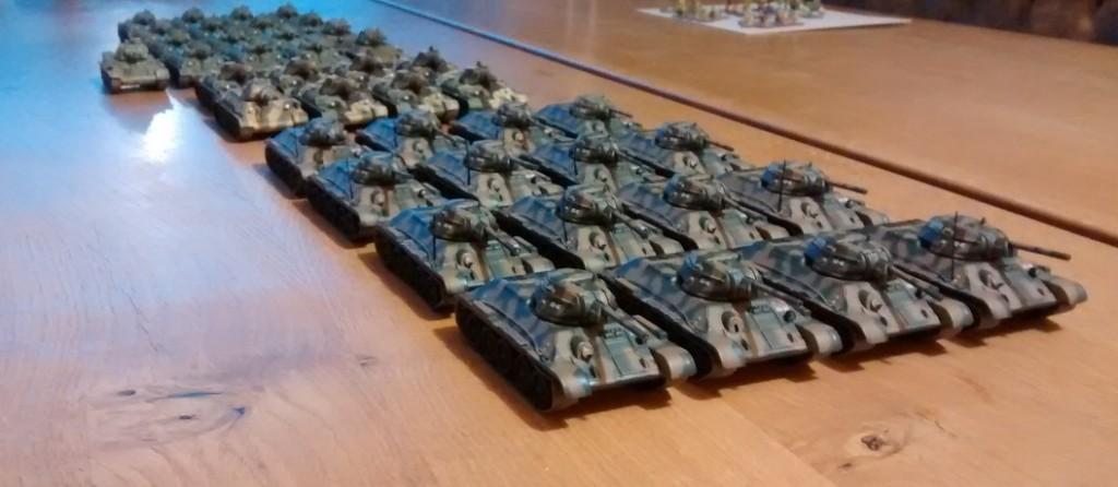 29. Garde-Panzer-Korps. Hier einige der T-34/76.
