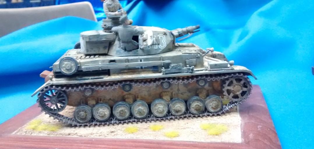 Der Panzer IV Ausf. D des Panzer-Regiment 8 irgendwo in Lybien im Jahr 1941. Der Bausatz stammt von Dragon.