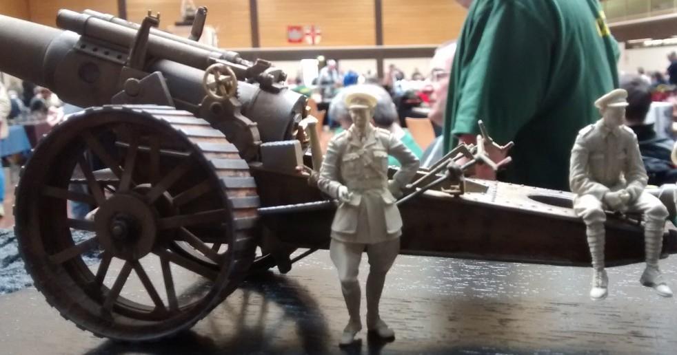 Ein britisches Artilleriestück