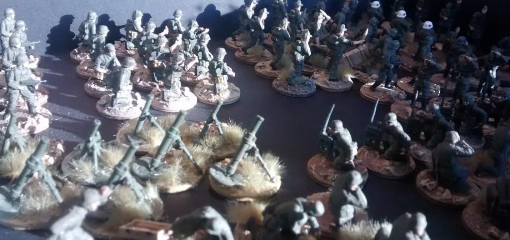 Das Granatwerfer-Bataillon 5. Für Interessierte: hier kommen vor allem die PSC Late War German Heavy Weapons zum Einsatz.