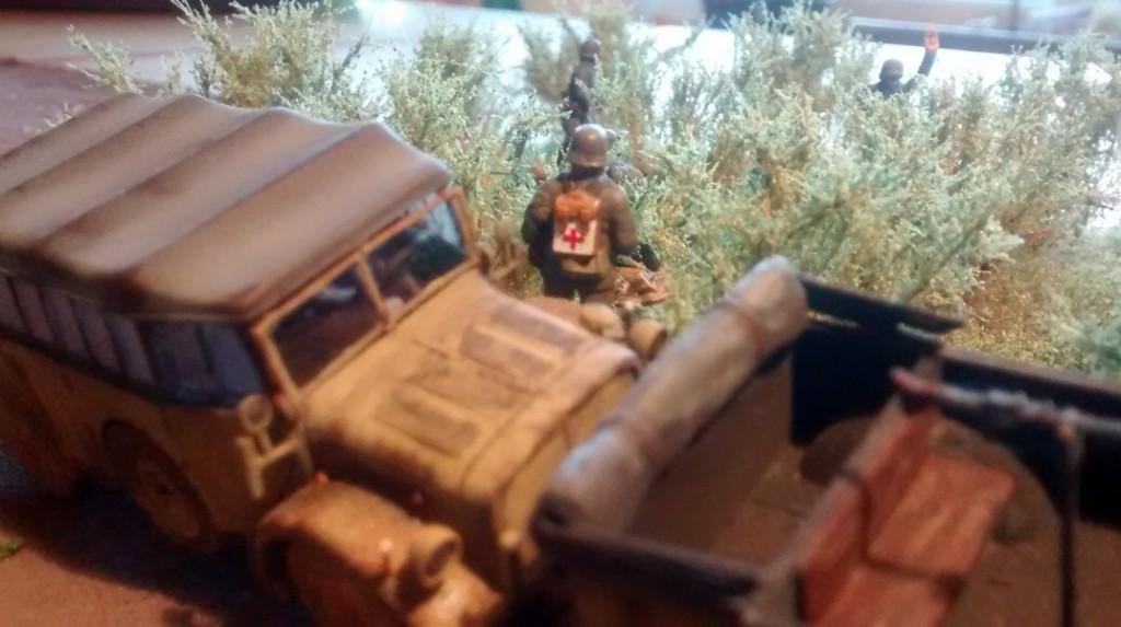 Der Sanitäter der 1./Granatwerfer-Bataillon 5