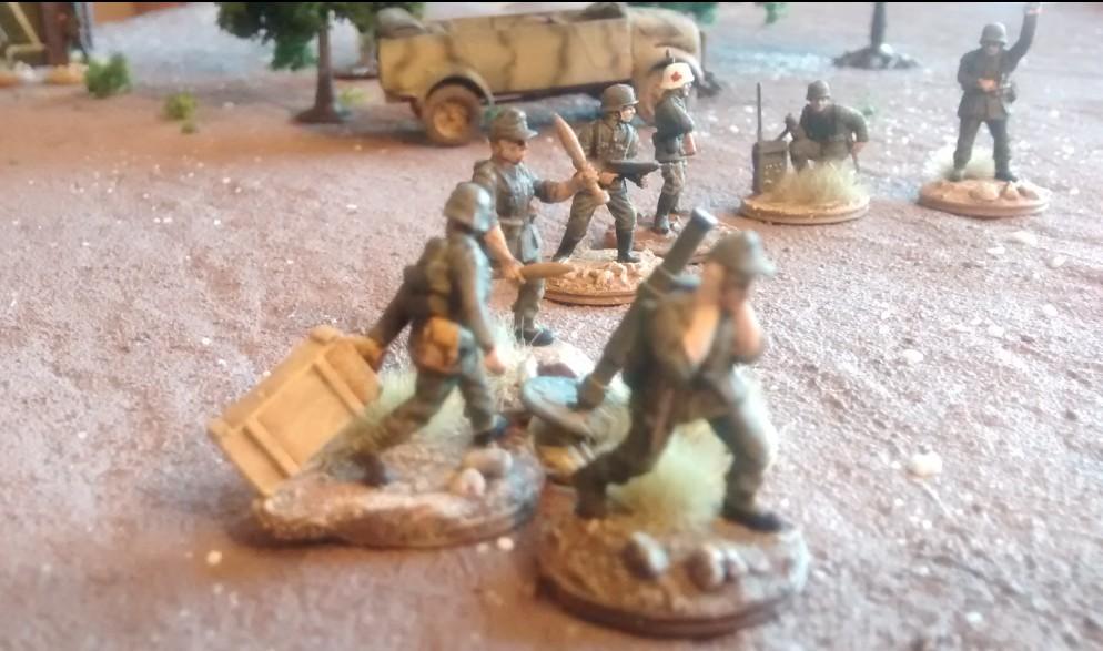 Das 120mm-Granatwerfer-Team sowie der Führungstrupp der 2./Granatwerfer-Bataillon 5