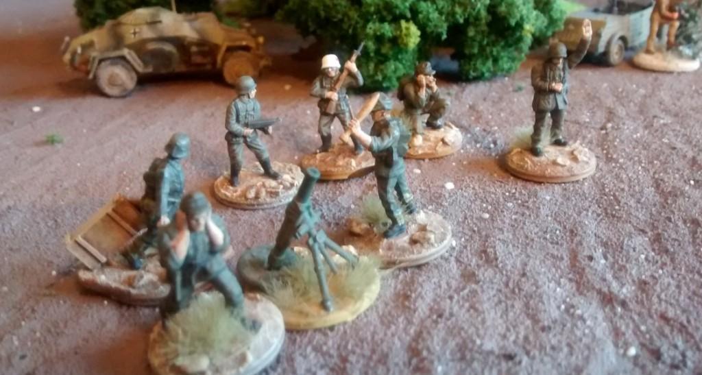 Das 120mm-Granatwerfer-Team sowie der Führungstrupp der 3./Granatwerfer-Bataillon 5