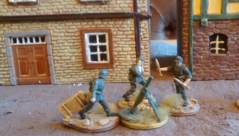 Das 120mm-Granatwerfer-Team der 4./Granatwerfer-Bataillon 5