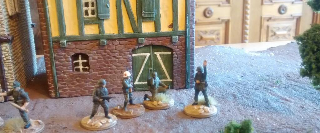 Das Führungs-Team der 4./Granatwerfer-Bataillon 5