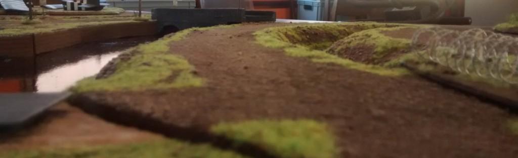 """Die bespielbare Table-Top-Dioramenplatte """"Schelde / Walcheren"""" im Maßstab 1:72 / 20mm."""
