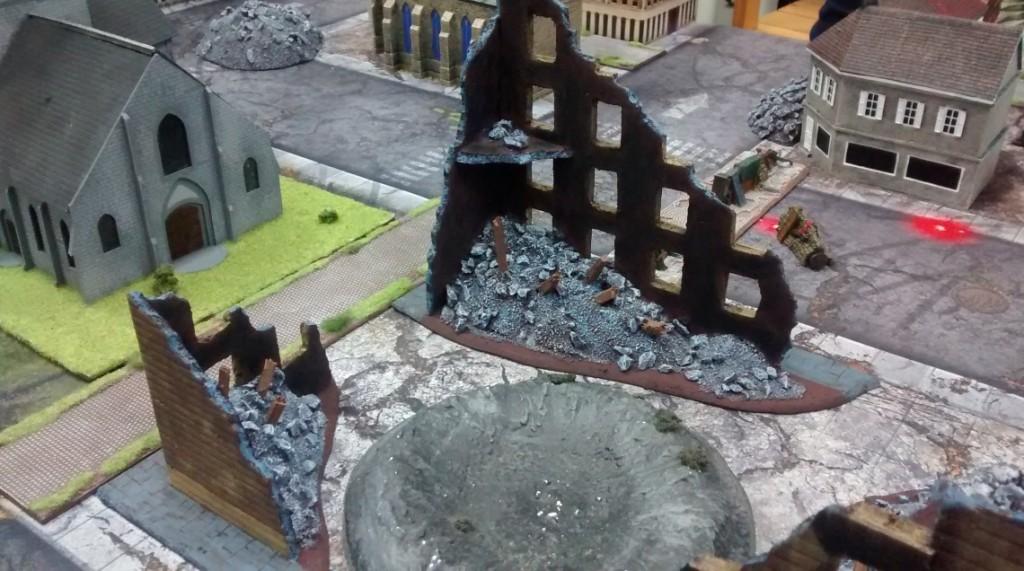 """Die Spielplatte des Table-Top-Game-Event """"Berlin 1945"""" am 07.05.2016 im Fantasyladen in Mainz."""