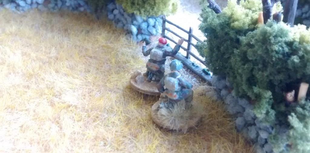 Hier der zweite Artillerie-Beobachter-Trupp.