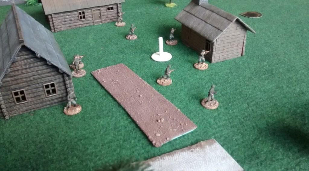 Das russische Drof ist besetzt. Der Ressourcenmarker wird zu Spielbeginn erobert werden.