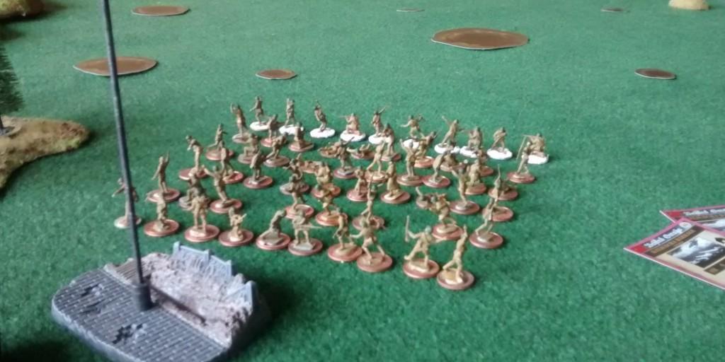 Eine weitere Angriffsgruppe, wieder besteht die erste Welle aus 70 Infanteristen.