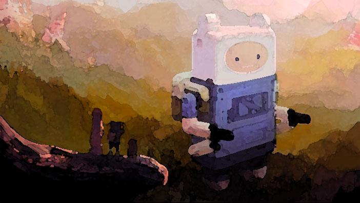 Fanart zu Adventure Time - Abenteuerzeit mit Finn und Jake. Eine Aquarellmalerei.