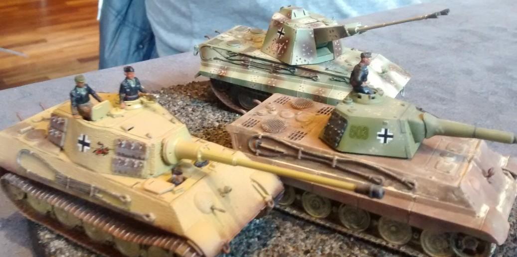 Original und Varianten auf Basis des Fahrgestell Panzer VI B Tiger II