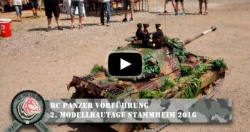 RC-Panzer Vorführung: 2. Modelltage Stammheim 2016