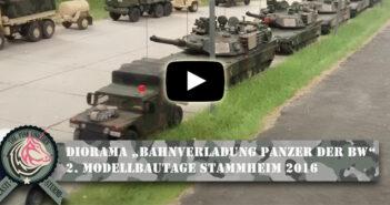 """Diorama """"Bahnverladung Panzer der Bundeswehr"""": 2. Modelltage Stammheim 2016"""