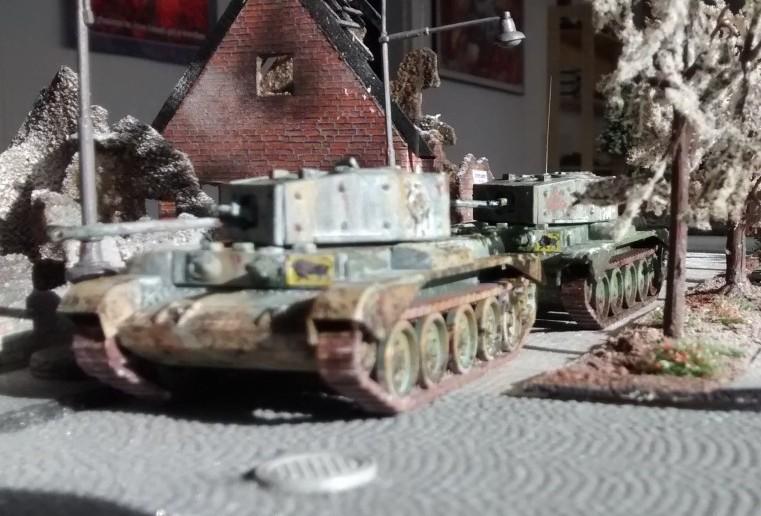 Cruiser Tank Mk VIII A 27M Cromwell auf der Behind-Omaha-Spielplatte