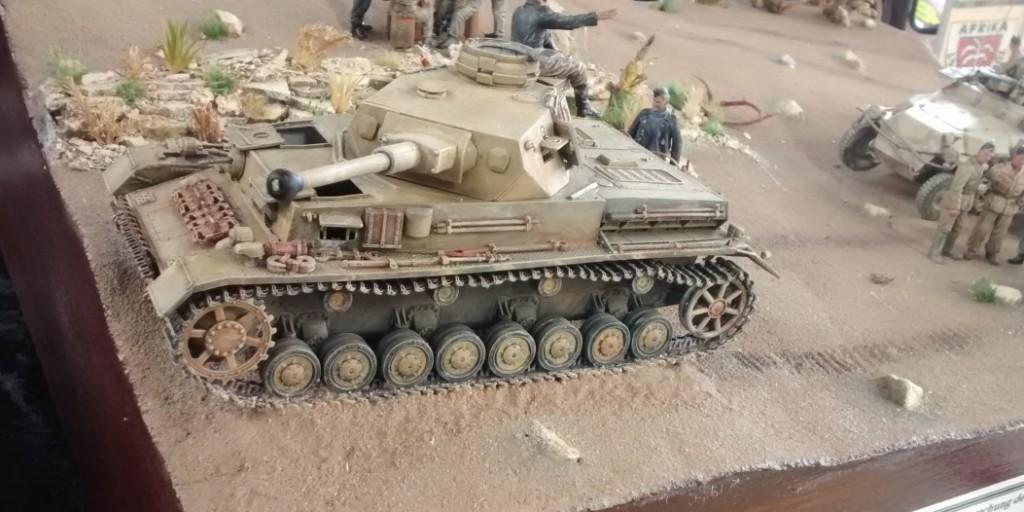 Diorama Lagebesprechung II. Abt. /  Panzerregiment 8 bei Saunu nahe El Agheila
