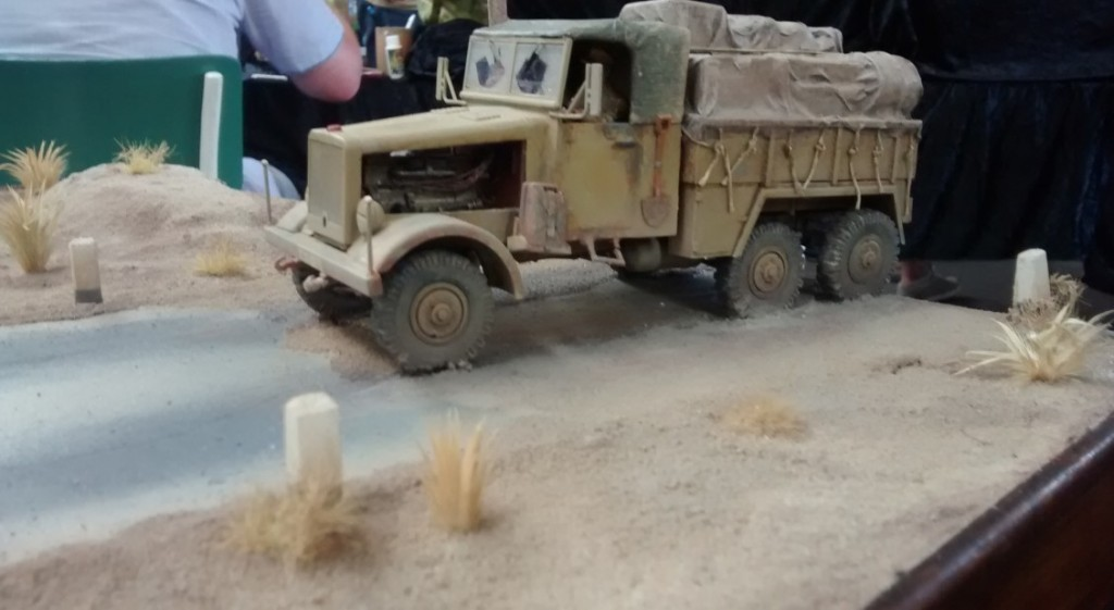 Diorama Rollbahn nach Bengasi