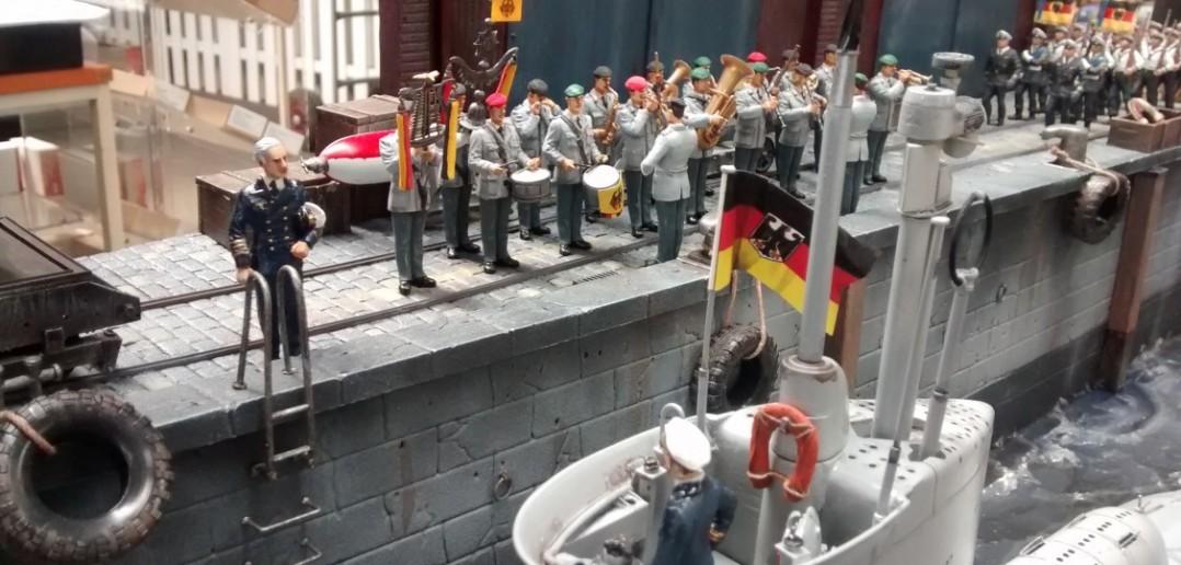 """Diorama U71 """"Hecht"""" der Bundesmarine 1954"""