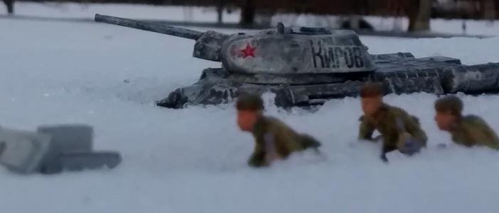 Russische Verteidigungsstellung mit T-34/76