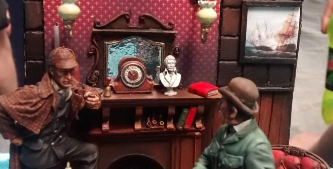 Sherlock Holmes und Dr. Watson in der Baker Street 221b in London
