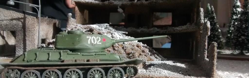 T-34/85 auf der Behind-Omaha-Spielplatte