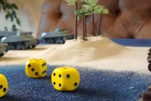 """Tisch 14 Szenario """"Schlacht um Wake-Island, 1941"""" Spielplatte """"Wake-Island"""" 180 x 180cm"""