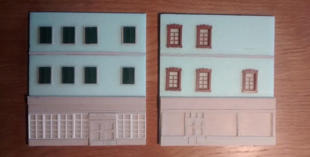 Diese beiden Fassaden wurden mit Fenstern über den Ladenfronten ausgestattet.