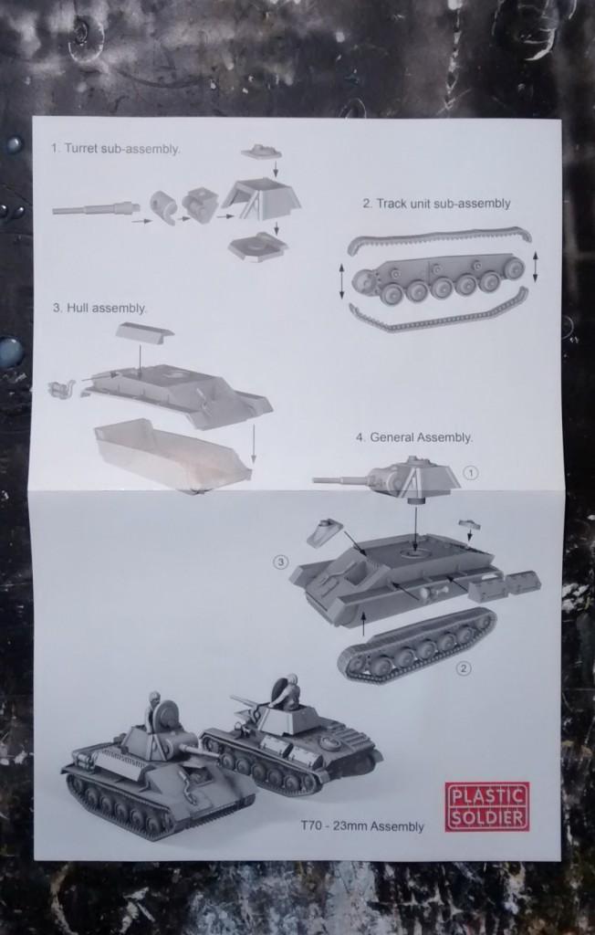 PSC Russian T70 Tank Bauanleitung (Seite 1)