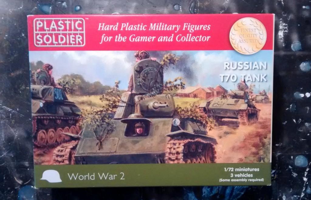 Die Schachtel des Bausatzes PSC WW2V20009 Russian T70 Tank