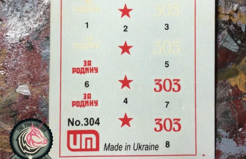 Die Decals der SU-76 von UM Ukraine Models (Art.No 304)