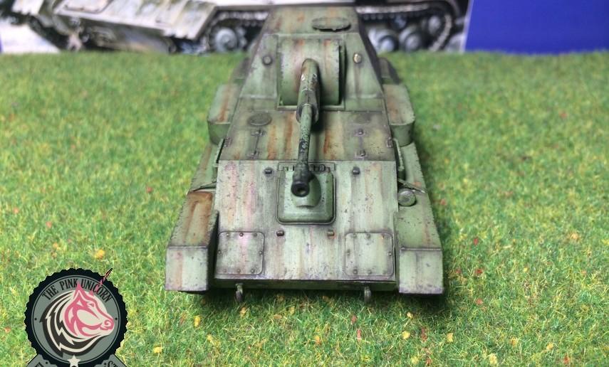 Ganz vorn vorne: SU-76 Selbstfahrlafette von UM Ukraine Models (Art.No 304)