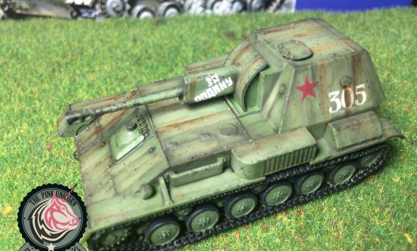Noch ne Perspektive aus der Stuka: SU-76 Selbstfahrlafette von UM Ukraine Models (Art.No 304)