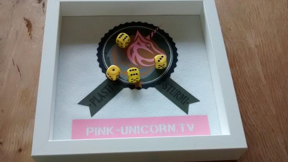 Das Original-Pink-Unicorn-Würfelbrett