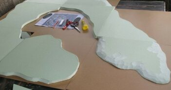 Projekt Wake-Island: Bau der Dioramenplatte