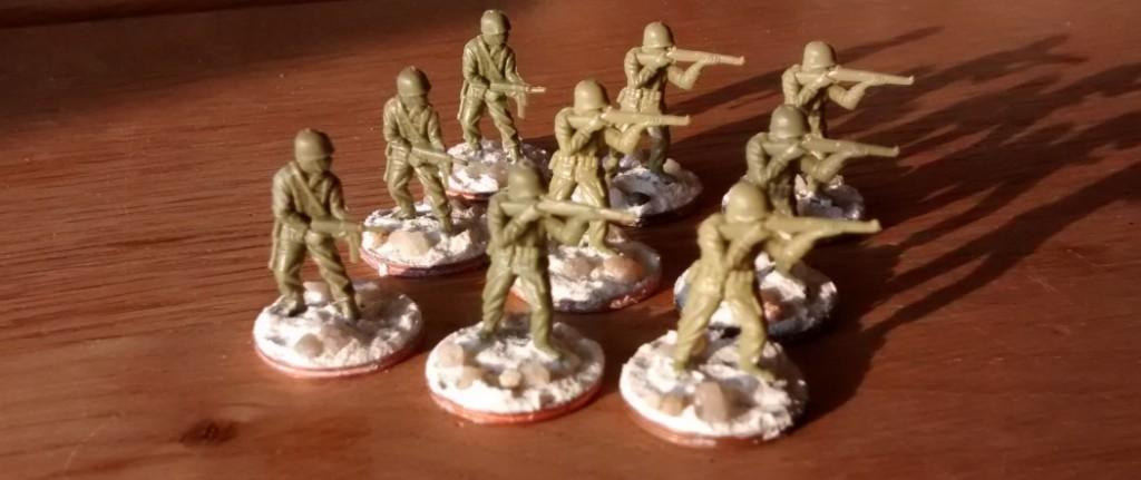 Wieder neun Matchbox-Minis, welche die Combat Support Group auffüllen werden.