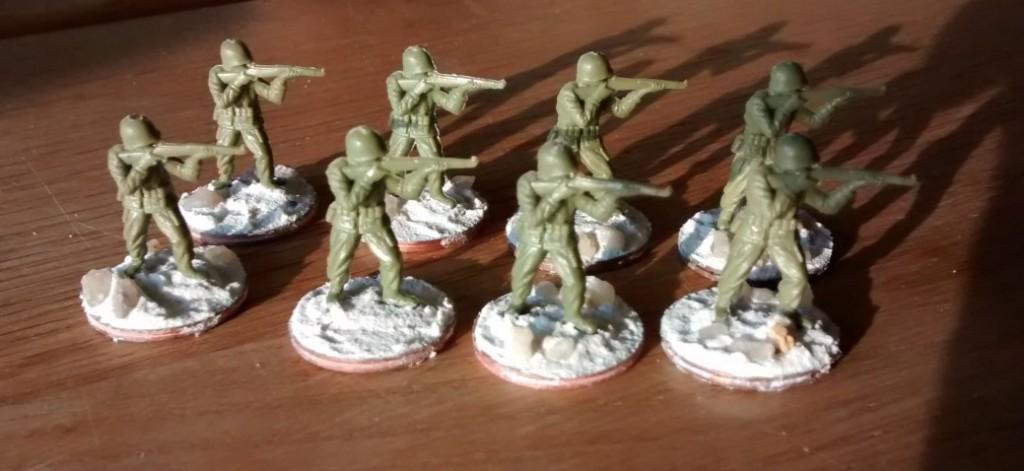 Acht Schützen für das 1. Bataillon.
