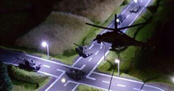 Cold War Commander: elektrische Strassenbeleuchtung im Maßstab 1:350