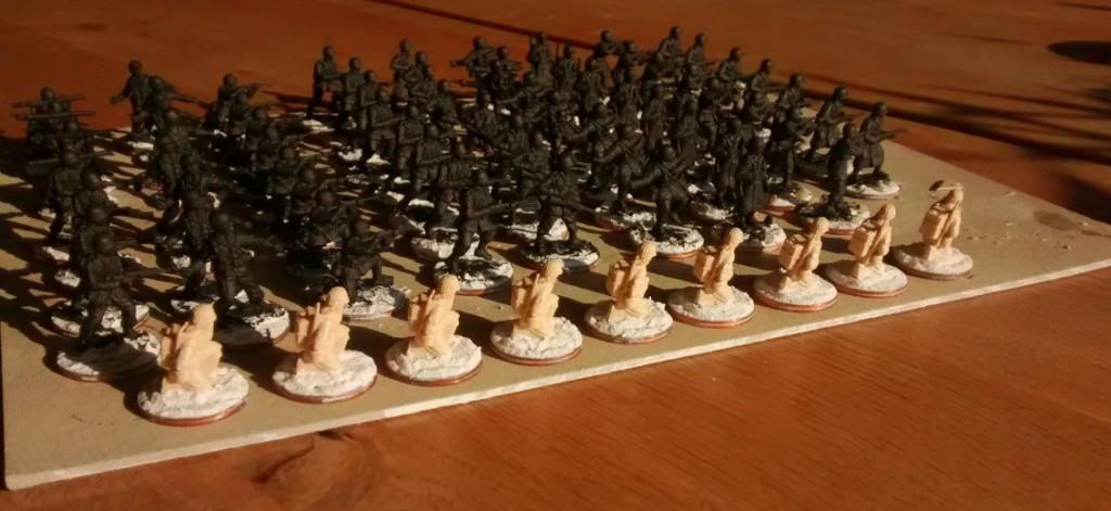 Grundierte GIs der 99th Infantry Division nebst den frisch rekrutierten Funkern