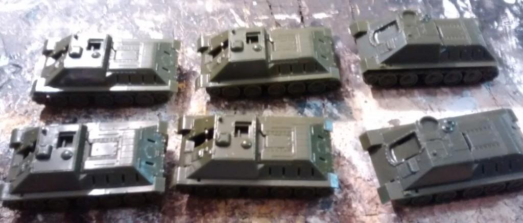 Hier die Ergebnisse des Zwischenschritts beim Bau des Pegasus 7664 SU-122
