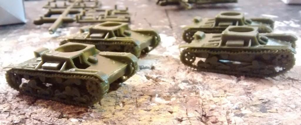 Hier das Zwischenergebnis der Montage des T-26