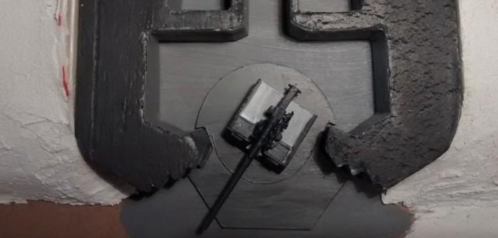 Regelbau M 272 Schießschartenstand 120°: über das Entstehen eines Geschützbunkers für die Marineküstenbatterie.