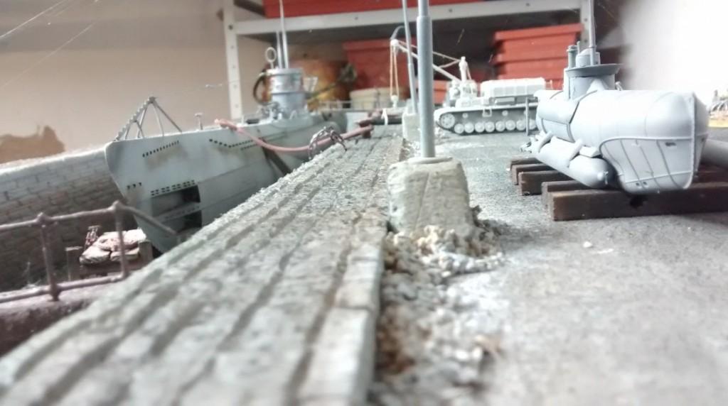 Ein kleiner Kameraschwenk zurück zum U-Boot.