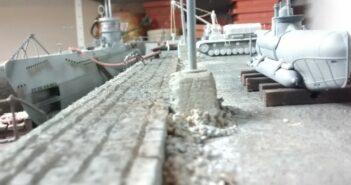 Grauer Wolf im Trockendock: ein deutsches U-Boot im Maßstab 1:72 und eindrucksvoll in Szene gesetzt.