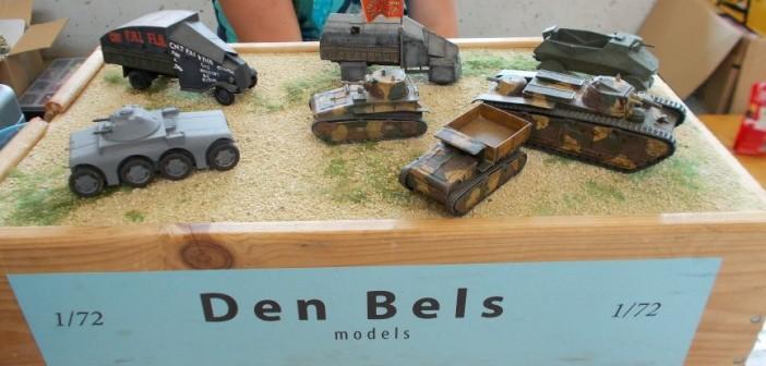 Am Stand von Giesbers und Del Bels Models findet man Resin-Bausätze, wie man sie sonst nirgends finden kann.